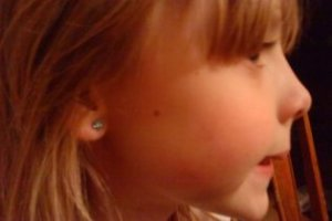 Caroline demanded and braved herself through earrings