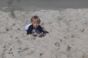 wallowing in the sand