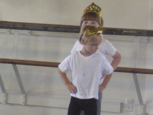 There was even another little boy at ballet camp