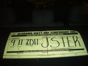 License plate JSTER