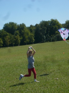 After her brother's kite crashed for the first of many times