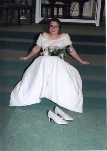 Except for the ceremony, the shoes spent almost no time on my actual feet
