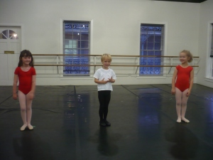Sam and the girls in his class