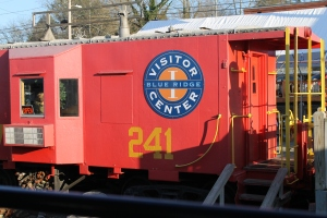This old caboose is actually the ticket office